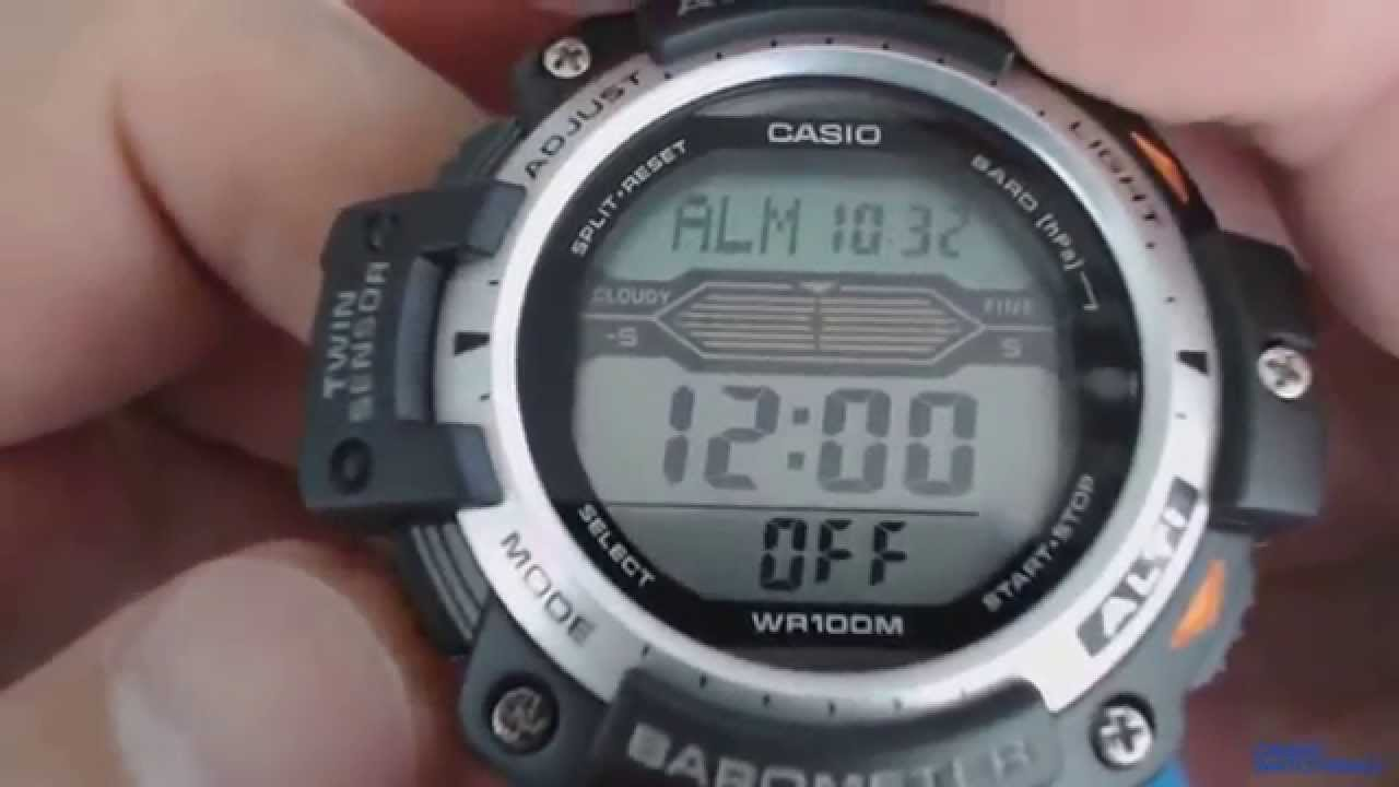 0d2065543ce Pro Trek Casio SGW-300H-1AV - YouTube