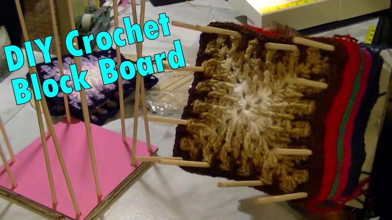 DIY Crochet Block Board From Cardboard