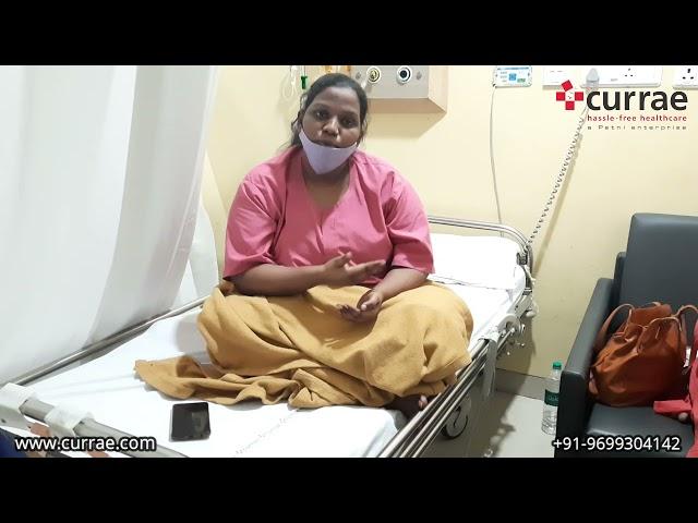 Pt. name - Ankita Mestry | GynaecSurgery | Dr. Rani Jacob | Currae Hospitals