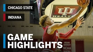 Highlights: Chicago State at Indiana Hoosiers | Big Ten Basketball
