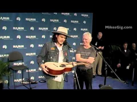 John Mayer At NAMM 2012 Introduces The Martin 00-45SC Part 1   MikesGig