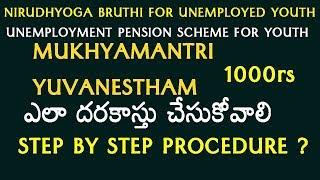 How to apply for Mukhyamantri Yuva Nestam Scheme for UnEmployed Youth Online Registration