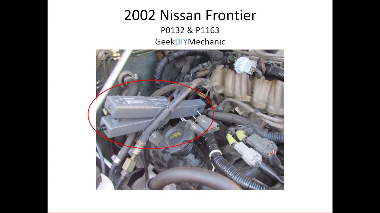 Engine Light Codes >> Nissan 2002 Frontier - P0132 & P1163 - YouTube