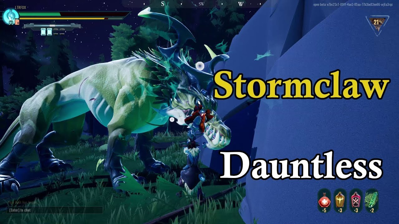Stormclaw Solo Hammer - Dauntless Open Beta