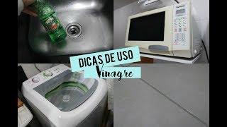 DICAS DE LIMPEZA DA CASA COM VINAGRE