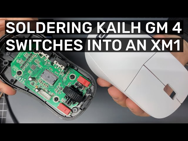 Installing Kailh GM4.0 Switches in an Endgame Gear XM1 (RGB XM1 without the extra weight!)