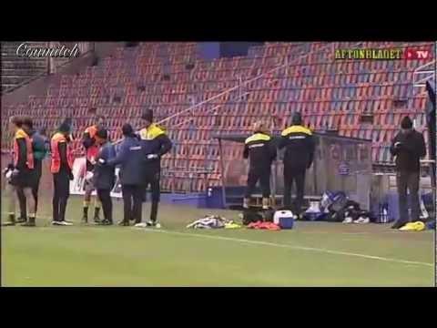Ibrahimovic Kicking All of His Teammates