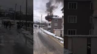 Denizli'de korkutan yangın