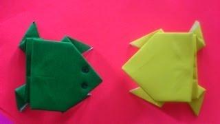 Cara Membuat Origami Katak | Origami Binatang