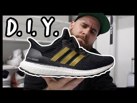 DIY CUSTOM GOLD CAGE ULTRA BOOST IN UNDER 5 MINUTES!