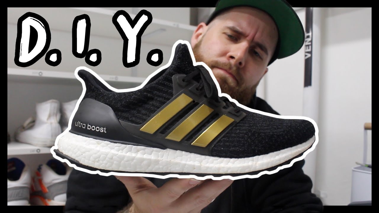 927eeed45f9 DIY CUSTOM GOLD CAGE ULTRA BOOST IN UNDER 5 MINUTES! - YouTube