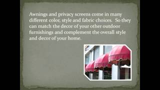 The Popularity Of Awnings And Privacy Screens