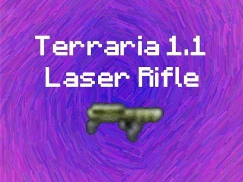 terraria how to make laser rifle