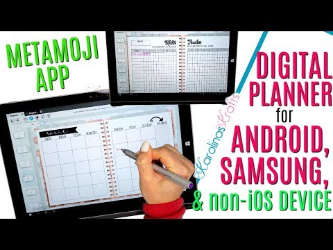 How To Use A DIGITAL PLANNER For ANDROID, Using A Digital Planner On Surface Pro With Metamoji App