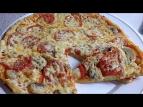 Пицца с шампиньонами и помидорами. Самая вкусная пицца.