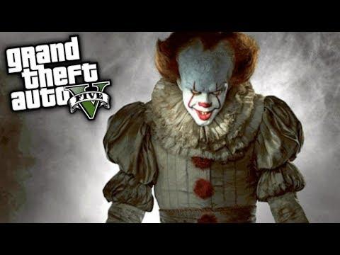 GTA V MODS: (IT) PENNYWISE, APOCALIPSIS ZOMBIE !!
