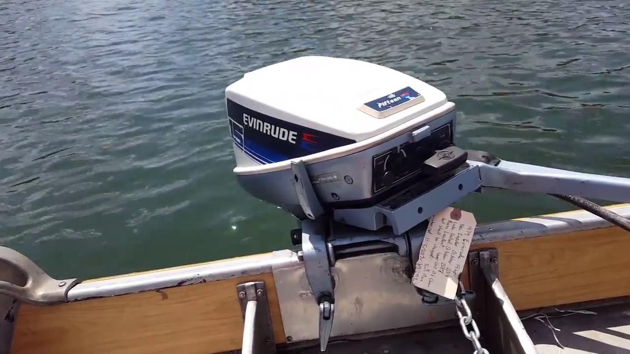 Evinrude 15 Hp >> 1979 Evinrude 15hp Outboard Motor Youtube