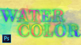Watercolor Painted Text Effect | Photoshop Tutorial