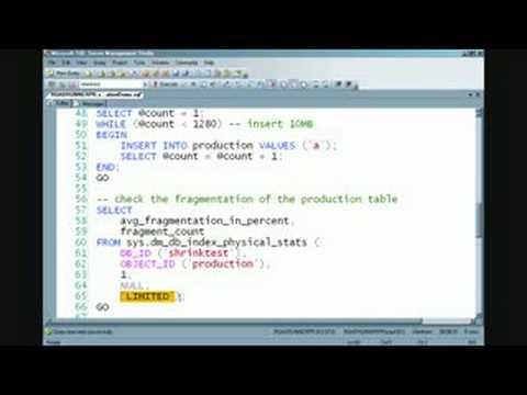 Database Maintenance: Avoid Fragmentation In Indexes