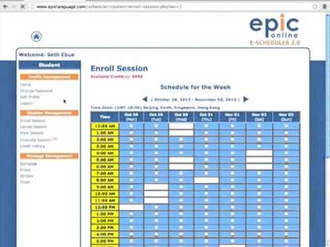 Epic tutorial accessing escheduler youtube