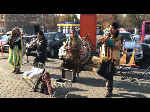 Mexican music . Mexicans in Armenia Yerevan street, relaxin' music