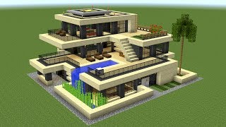 Minecraft - How to build a huge modern house 2