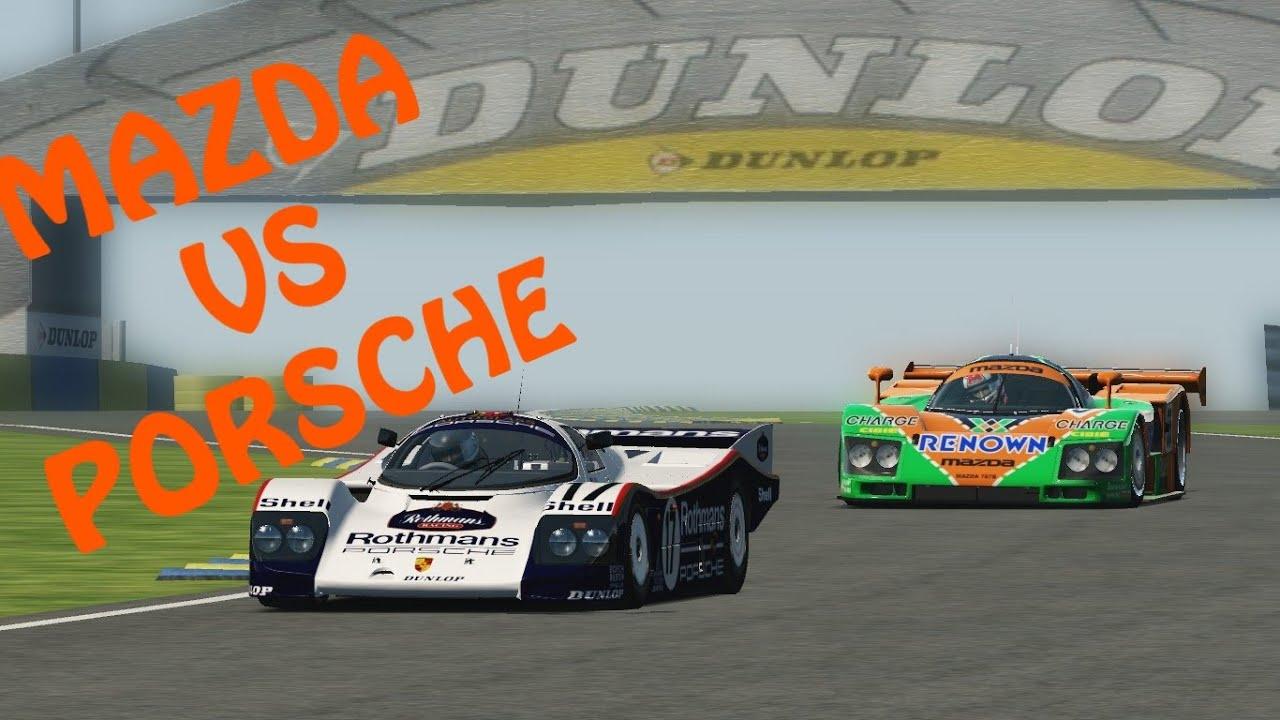 Assetto Corsa Mazda 787b Vs Porsche 962 Le Mans Youtube