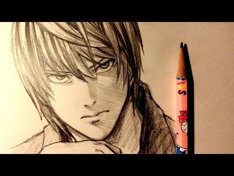 ASMR | Pencil Drawing 111 | Light Yagami (Request)