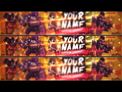 FREE Clash of clans youtube banner template#9 | Photoshop + Tutorial