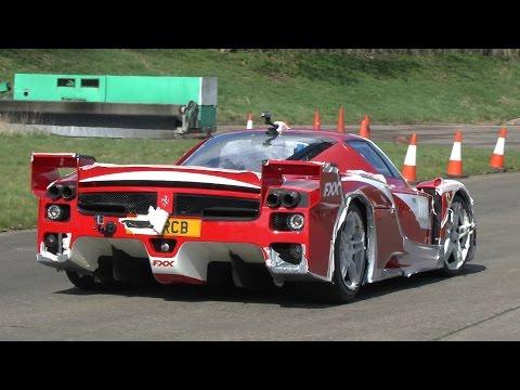 CRAZY LOUD Road Legal Ferrari FXX - EPIC SOUNDS!!!