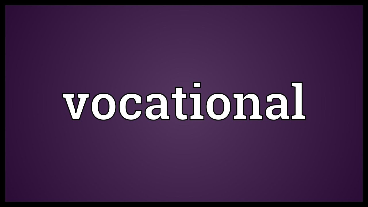 Vocational Meaning