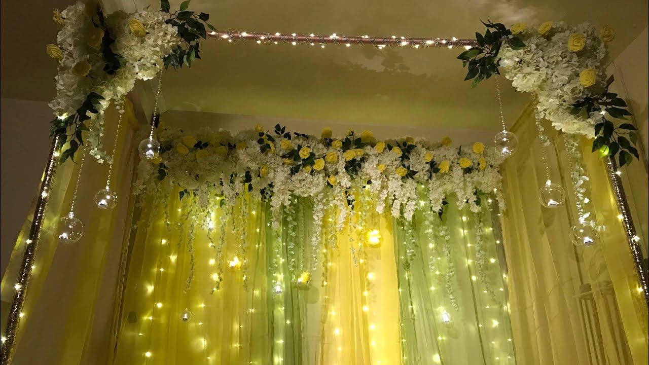 DIY- Canopy Wedding Decor DIY- Mayoun And Mehndi Decor