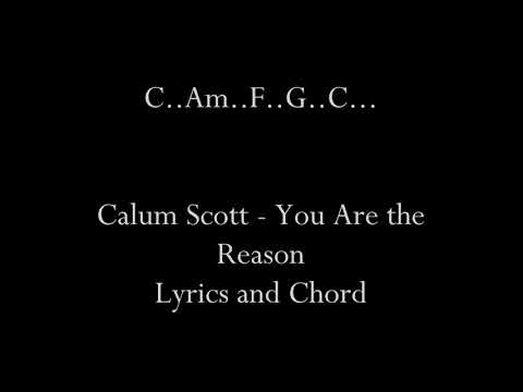 Calum Scott - You Are the Reason (Lyrics and Chord)