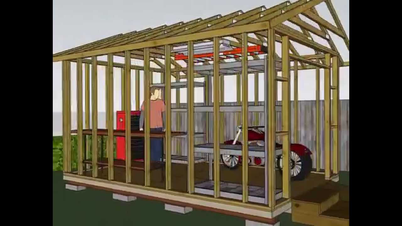 10 X 15 Foot Medium Duty Shed Youtube