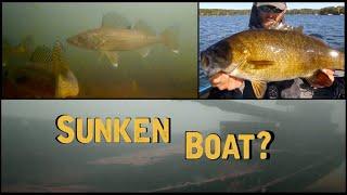 Underwater Walleye, Smallmouth and Sunken Boat!