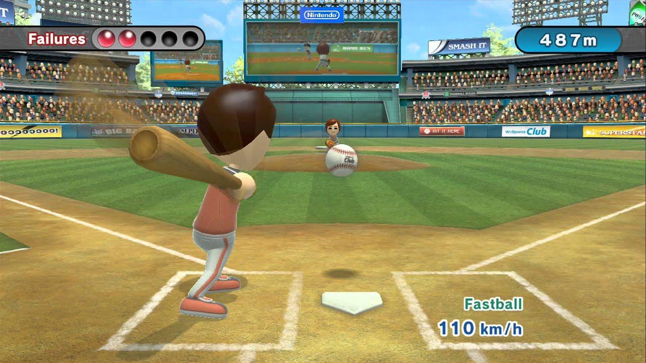 Wii Sports Club Baseball Skill Shaper Home Run Hero
