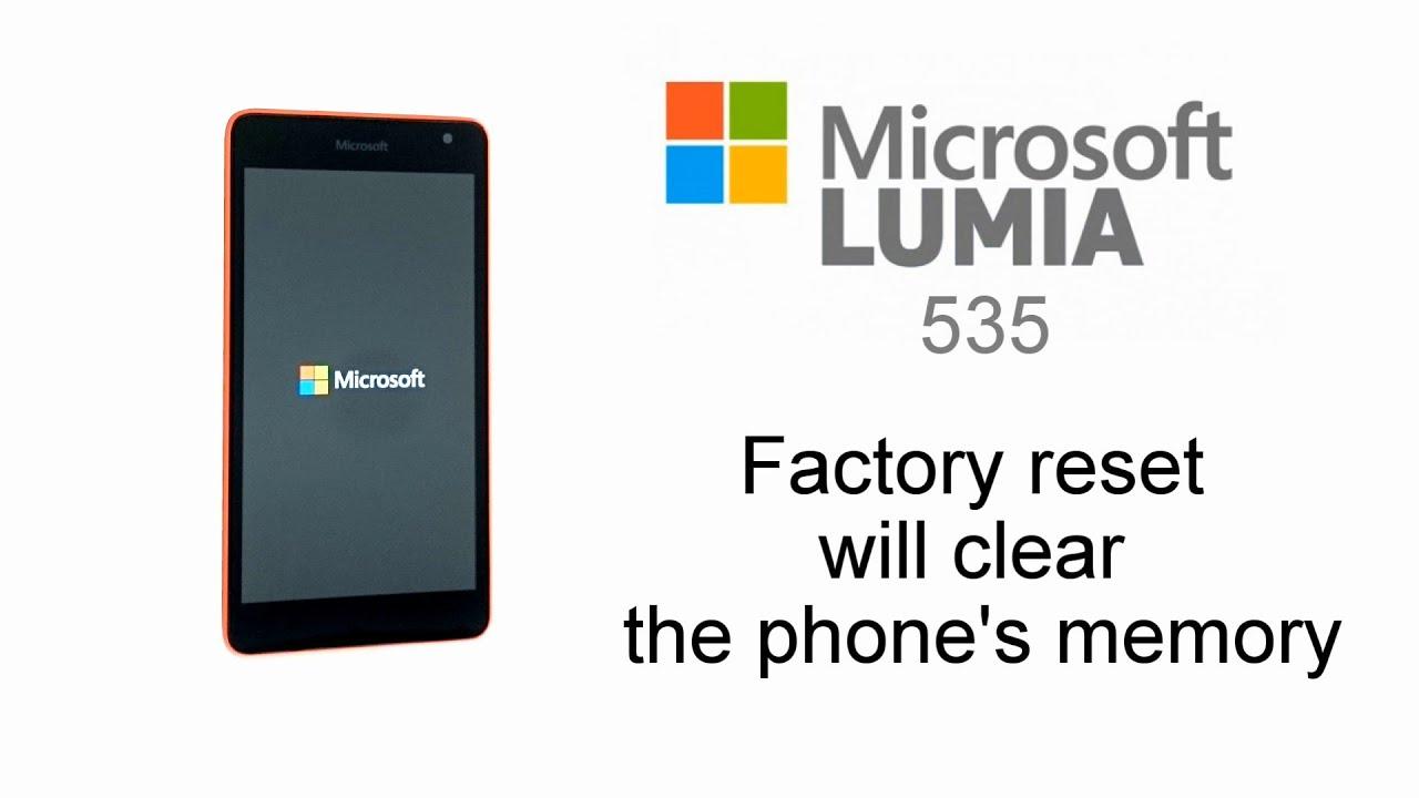 Microsoft Lumia 535 - Factory Reset, Screen Lock Removal