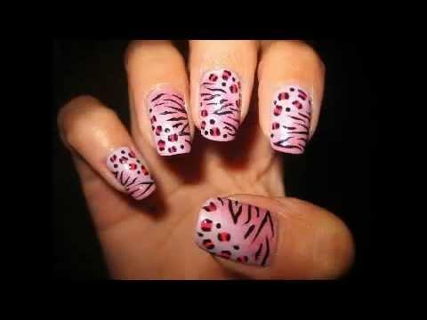 Imagenes Uñas Animal Print de Cebra - YouTube