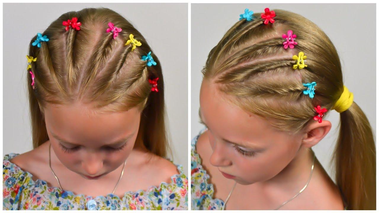 5-min Elegant Twist Braids Hairstyle ★ EASY Summer Updo HAIRSTYLES (Little girl hairstyles #78)# ...