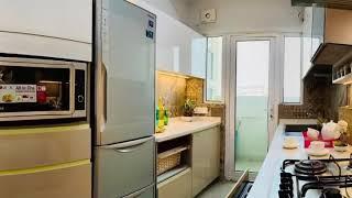 Sleek and elegant modular kitchen delivered @ Mahagun Modern Noida sector 68