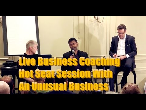 Live Business Coaching Hot Seat Session With An Unusual Business