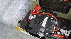 BMW 325I 2005 BATTERY REPLACEMENT