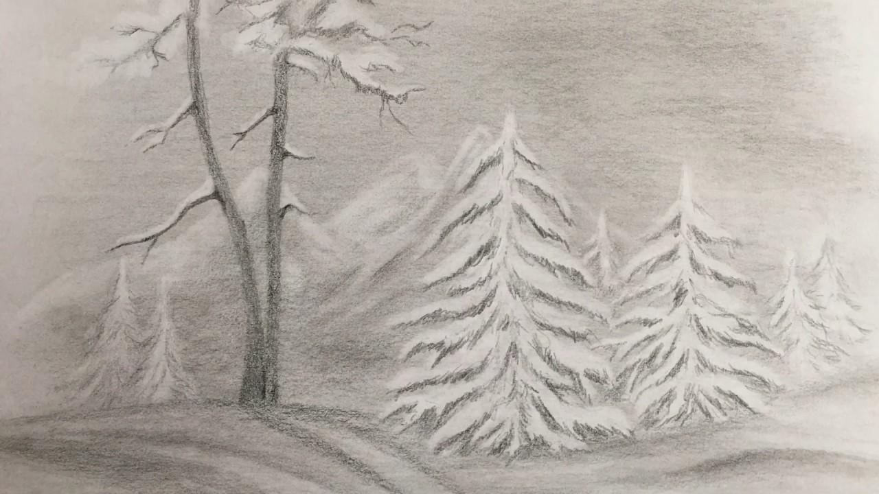 позаботились карандашные картинки зимы всех моделях домашних