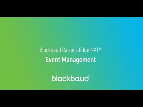 Blackbaud Raiser's Edge NXT In a Flash: Event Management