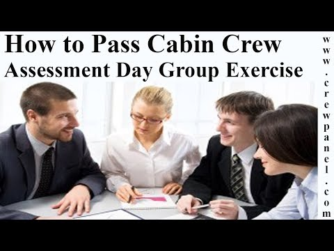 How to pass cabin crew assessment day group exercise during airline interview?