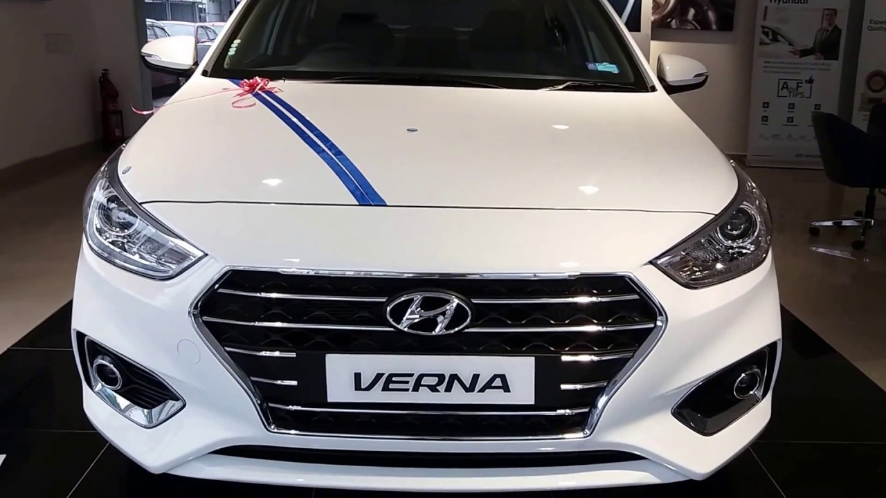 All New Hyundai Verna Sx Pure White With Sunroof Exterior And
