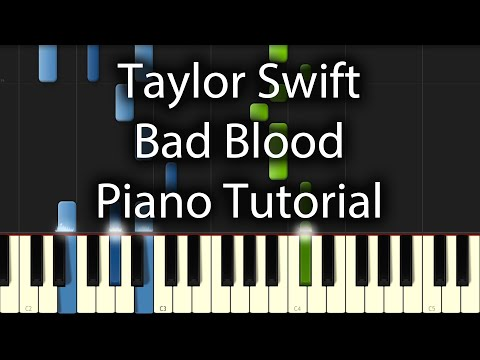 Taylor Swift - Bad Blood Tutorial (How To Play On Piano)