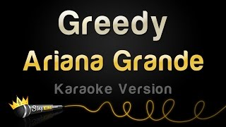 Download Ariana Grande - Greedy (Karaoke Version) MP3 song and Music Video