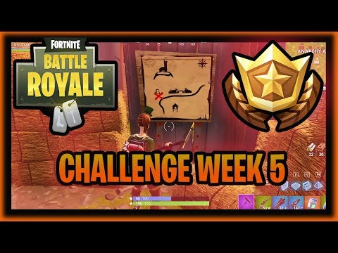 FORTNITE CHALLENGE WEEK 5: Follow the treasure map found in Anarchy Acres! LOCATION