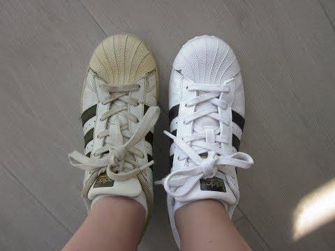 Cómo blanquear las Adidas Superstar (HILOS Y TELA INCLUIDOS)